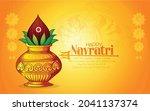 illustration of goddess durga...   Shutterstock .eps vector #2041137374