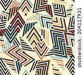 seamless vector geometric... | Shutterstock .eps vector #204117931