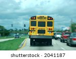 A Moving School Bus Along...