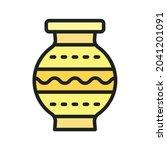 amphora icon vector image. can...   Shutterstock .eps vector #2041201091