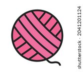 yarn icon vector image. can...   Shutterstock .eps vector #2041201124