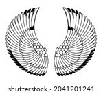 wings in egyptian style. hand...   Shutterstock .eps vector #2041201241