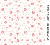 seamless floral pattern with... | Shutterstock . vector #204124681