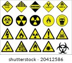 hazard signs collection vector | Shutterstock .eps vector #20412586