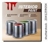 interior paint creative... | Shutterstock .eps vector #2041259054