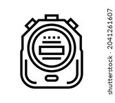 stopwatch device line icon...   Shutterstock .eps vector #2041261607