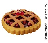 3d homemade cherry pie with a...