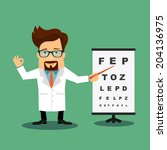 friendly doctor ophthalmologist ... | Shutterstock .eps vector #204136975