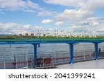 Empty Fenced Riverboat Pier On...