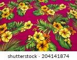 vintage seamless tropical...   Shutterstock . vector #204141874