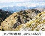 Mountain Ridge At High Altitude ...