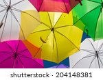 lots of umbrellas coloring the... | Shutterstock . vector #204148381
