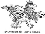 gryphon tattoo isolated in... | Shutterstock .eps vector #204148681