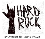 abstract rock hand on grunge...   Shutterstock .eps vector #204149125