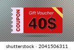 40  coupon promotion sale for... | Shutterstock .eps vector #2041506311