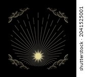 rays vector in engraving style  ... | Shutterstock .eps vector #2041525001