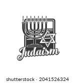judaism religion vector icon... | Shutterstock .eps vector #2041526324