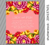 wedding invitation cards with... | Shutterstock .eps vector #204157651