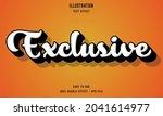 exclusive editable text effect... | Shutterstock .eps vector #2041614977