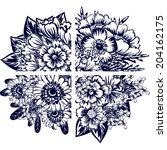 flower set | Shutterstock . vector #204162175