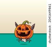happy halloween. cartoon cute... | Shutterstock .eps vector #2041649861