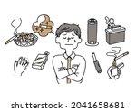 Illustration Set On Smoking...