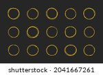 hand drawn circle. circles for...   Shutterstock .eps vector #2041667261