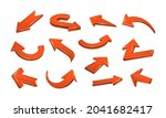 3d realistic red arrows...   Shutterstock .eps vector #2041682417