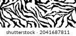 zebra skin  stripes grunge... | Shutterstock .eps vector #2041687811