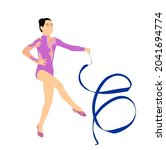 grace ballet dancer girl vector ... | Shutterstock .eps vector #2041694774