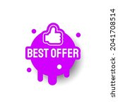 purple best offer icon label... | Shutterstock .eps vector #2041708514