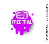 purple free trial icon label... | Shutterstock .eps vector #2041710341
