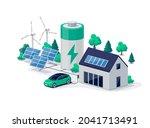 home virtual battery energy... | Shutterstock .eps vector #2041713491