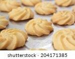 fresh homemade butter cookies... | Shutterstock . vector #204171385