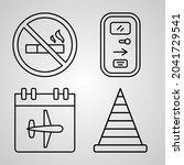 aviation line icons set...   Shutterstock .eps vector #2041729541