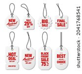 realistic price tags collection.... | Shutterstock .eps vector #2041768541