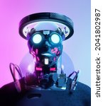 cyber futuristic portrait of a...   Shutterstock . vector #2041802987