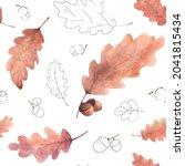 watercolor seamless pattern...   Shutterstock .eps vector #2041815434