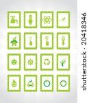 abstract ecology series icons | Shutterstock .eps vector #20418346