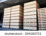 Cargo In Wooden Case At...