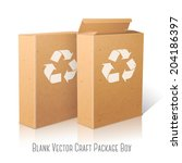 two realistic white blank paper ... | Shutterstock .eps vector #204186397