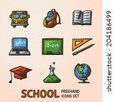 school  education  freehand... | Shutterstock .eps vector #204186499