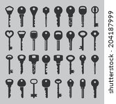 set of vector keys | Shutterstock .eps vector #204187999