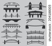 bridge icons set  | Shutterstock .eps vector #204188005