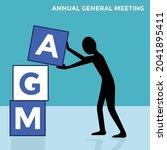 annual general meeting  man... | Shutterstock .eps vector #2041895411