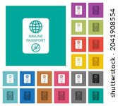 immune passport multi colored... | Shutterstock .eps vector #2041908554