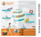 summer and travel vacation...   Shutterstock .eps vector #204193285