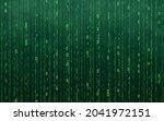 green matrix digital background....   Shutterstock .eps vector #2041972151