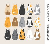 the world of cat colours ...   Shutterstock .eps vector #2041977791