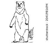 polar bear standing  wild...   Shutterstock .eps vector #2041981694
